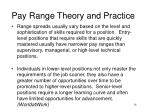 pay range theory and practice