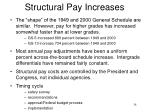 structural pay increases