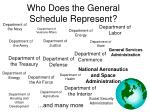 who does the general schedule represent