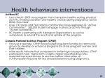 health behaviours interventions