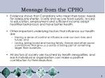 message from the cpho3