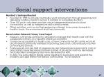 social support interventions