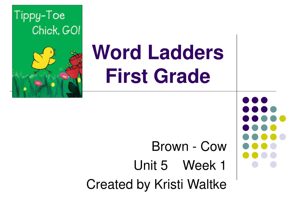 word ladders first grade l.