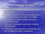 5 princ pios simples