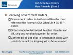 gsa schedule orders how it works cont
