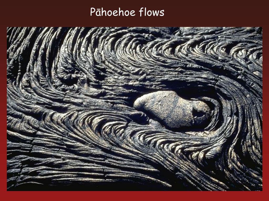 Pāhoehoe flows