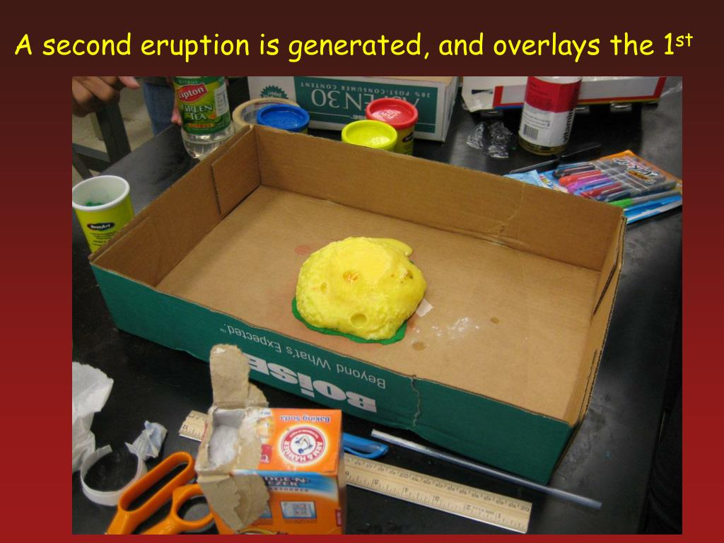 A second eruption is generated,