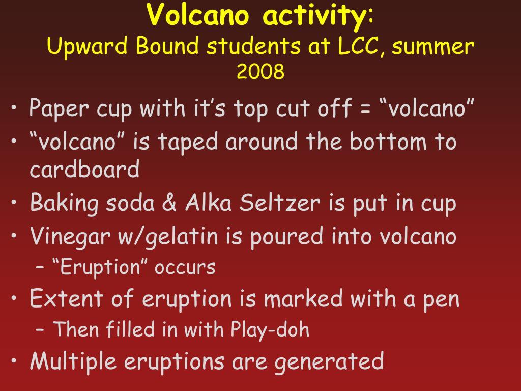 Volcano activity