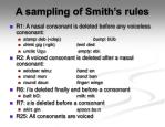 a sampling of smith s rules
