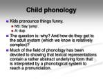 child phonology