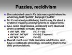 puzzles recidivism
