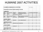 humane 2007 activities