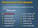 remote exe files needed