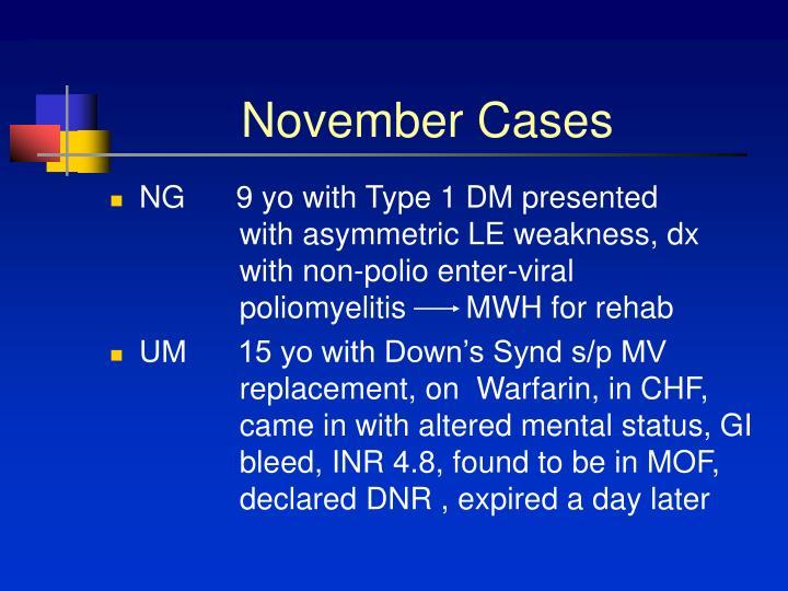 November cases