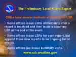 the preliminary local storm report25