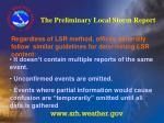 the preliminary local storm report26
