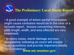 the preliminary local storm report27