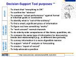 decision support tool purposes