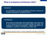 what is enterprise architecture ea
