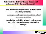 act 35 of the extraordinary session of arkansas 84th general assembly