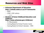 resources and web sites