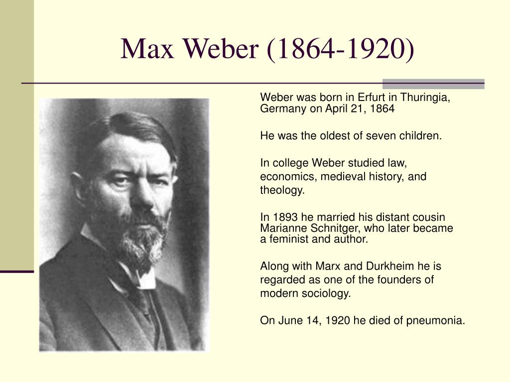ppt max weber 1864 1920 powerpoint presentation id 359568