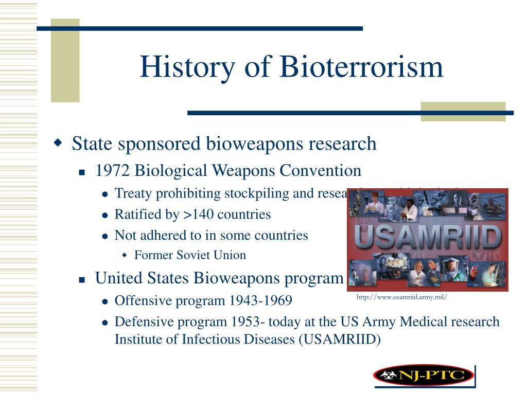 History of Bioterrorism