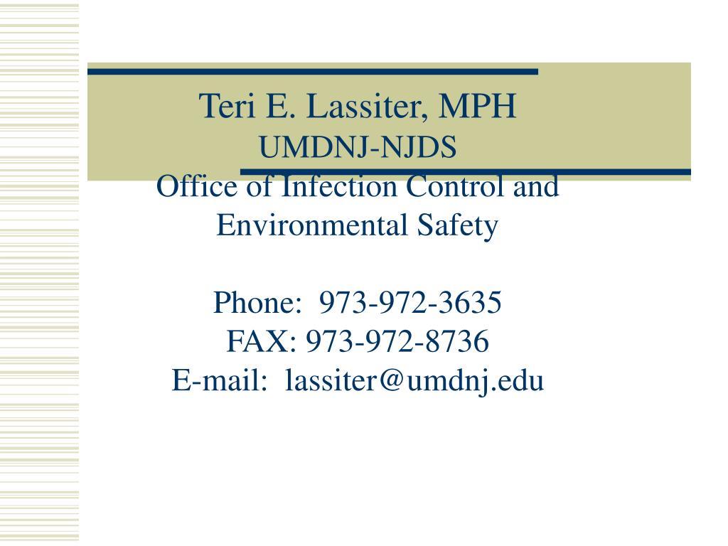 Teri E. Lassiter, MPH