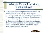 what the dental practitioner should know31