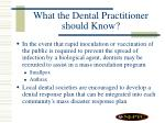 what the dental practitioner should know33