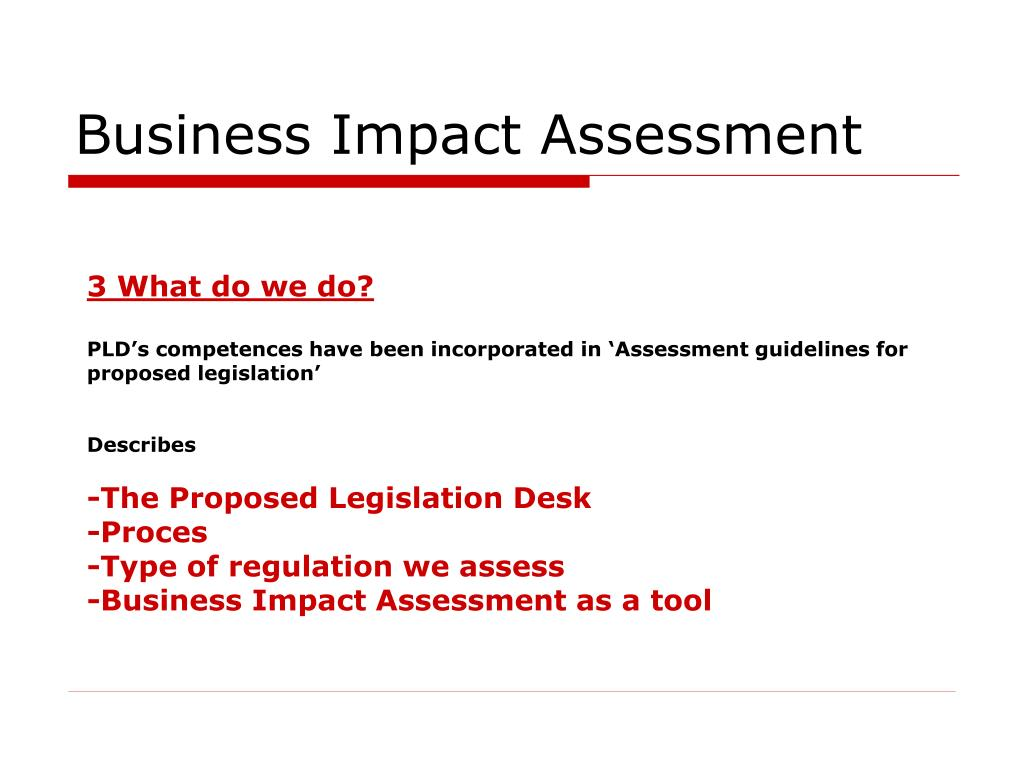 an impact assessment of business process