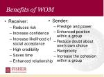 benefits of wom