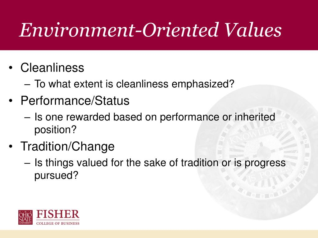 Environment-Oriented Values