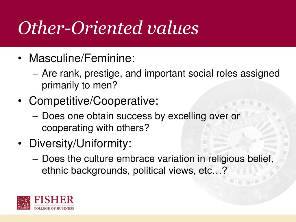 Other-Oriented values