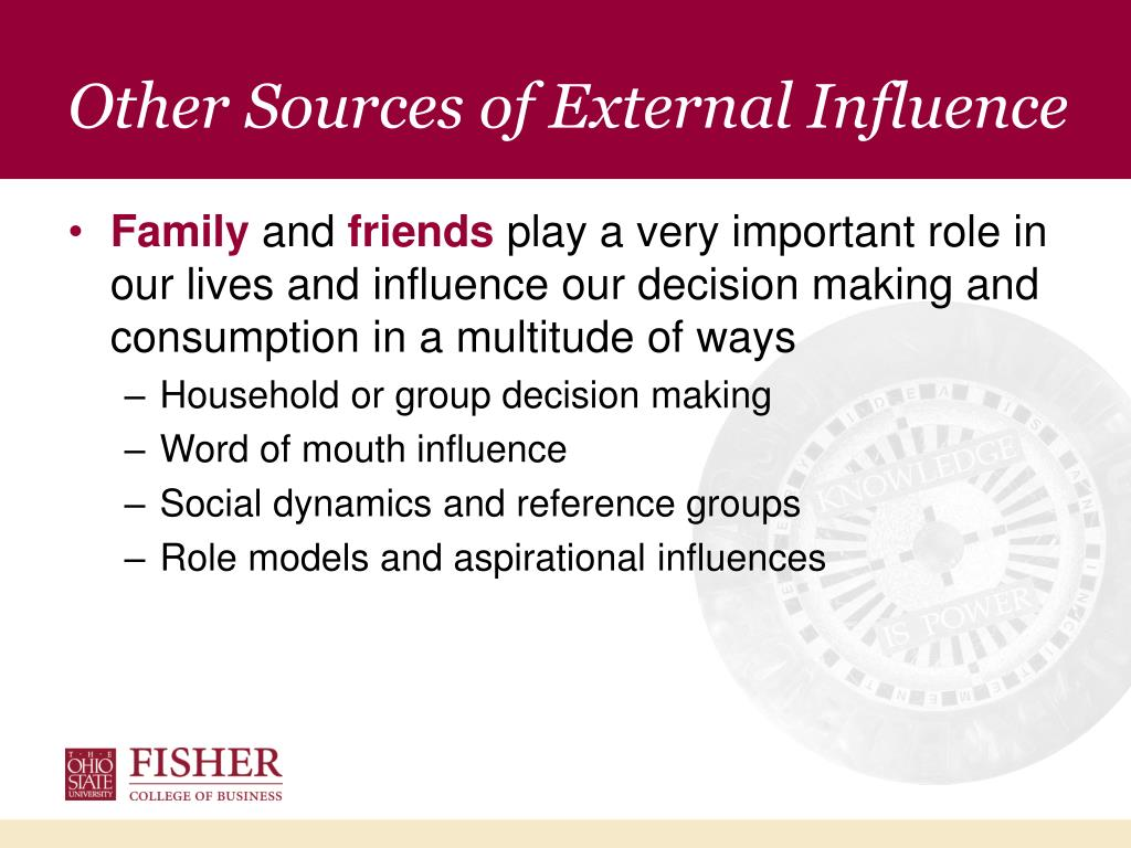 Other Sources of External Influence