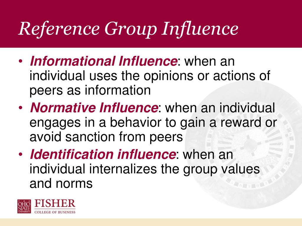 Reference Group Influence