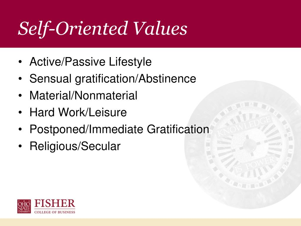 Self-Oriented Values