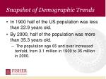 snapshot of demographic trends10