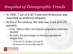 snapshot of demographic trends14