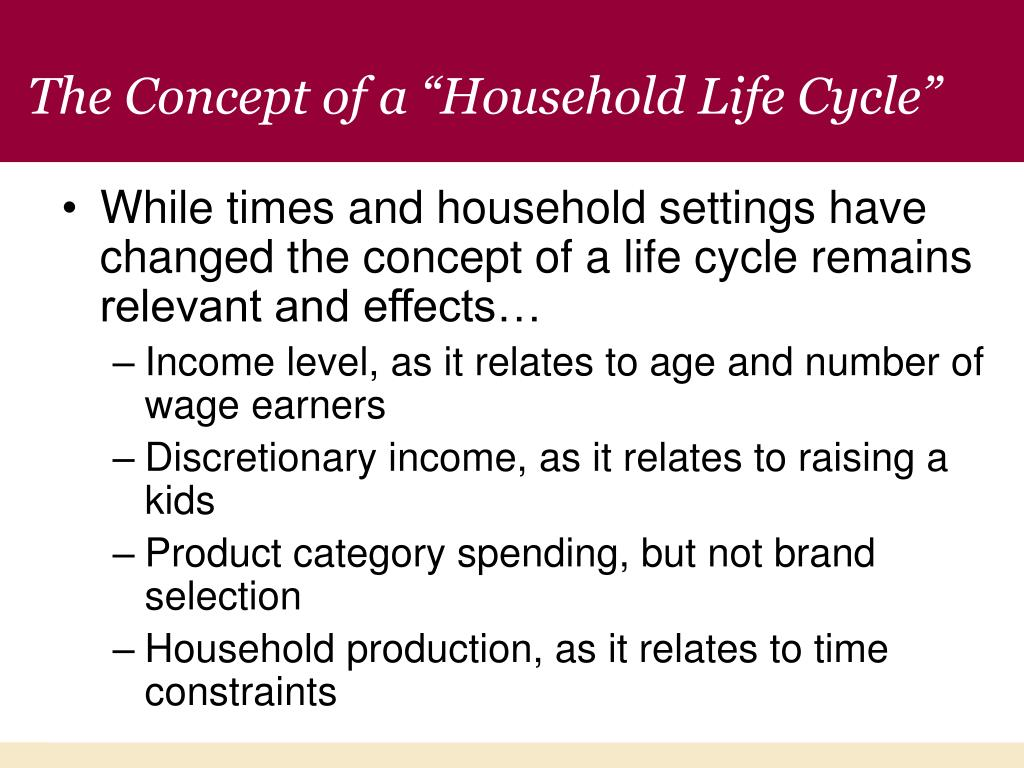 """The Concept of a """"Household Life Cycle"""""""