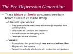 the pre depression generation