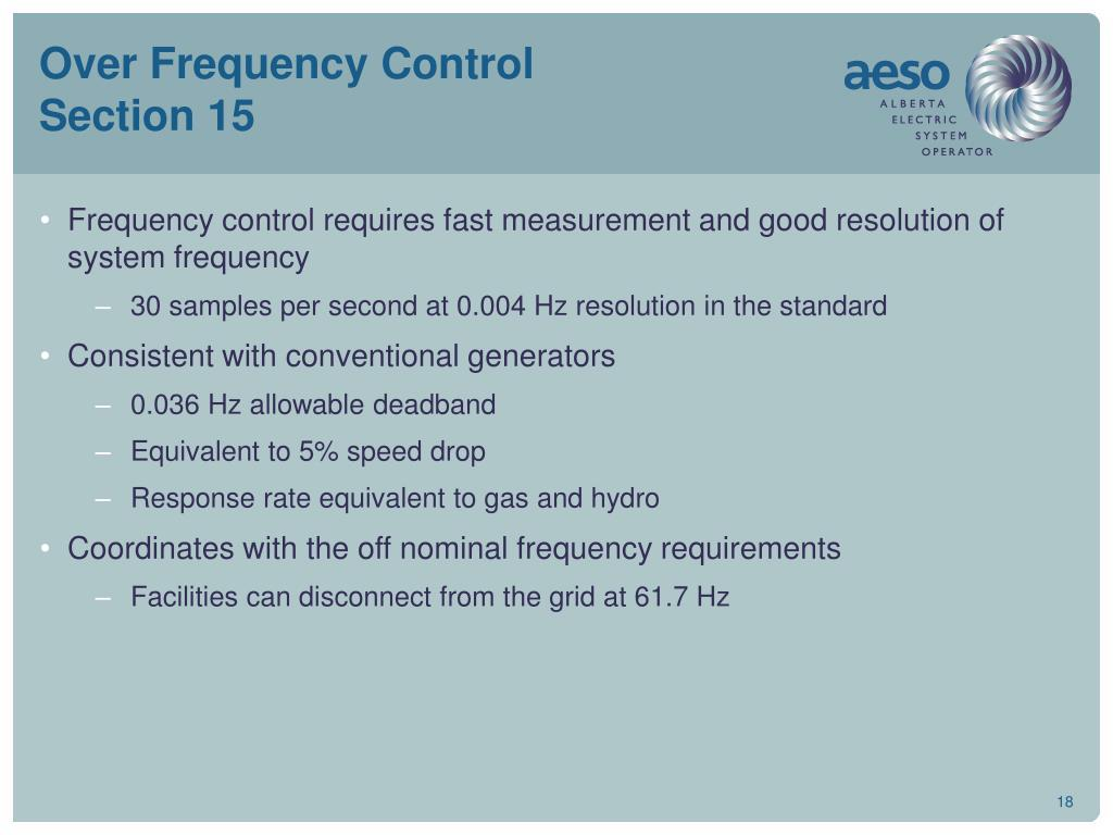 Over Frequency Control