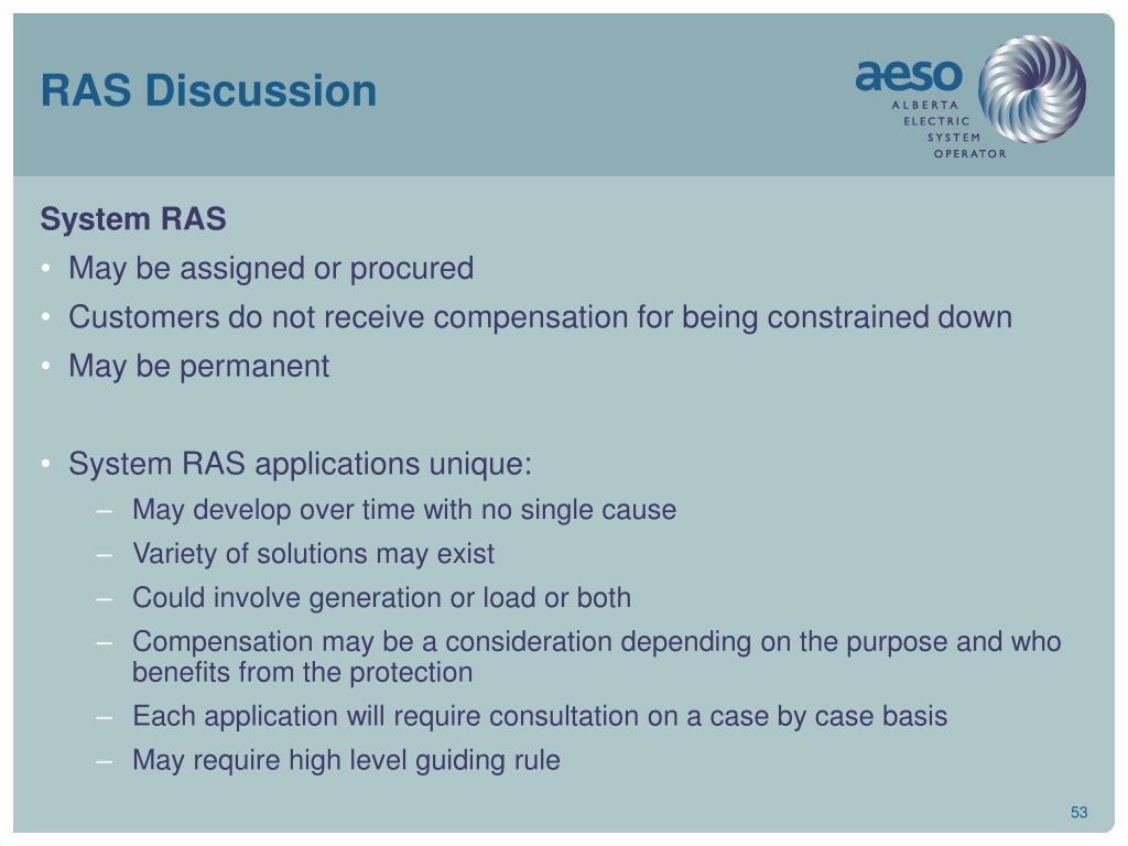 RAS Discussion