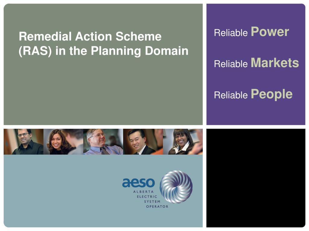 Remedial Action Scheme (RAS) in the Planning Domain