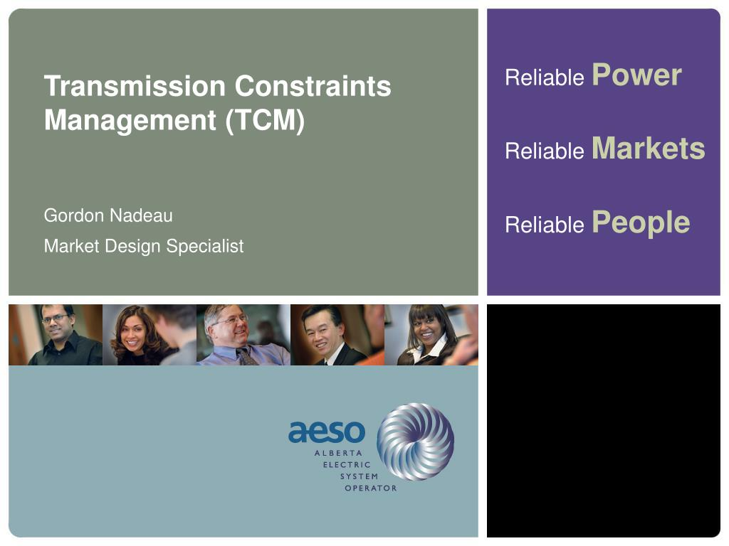 Transmission Constraints Management (TCM)