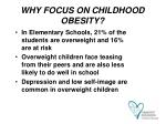 why focus on childhood obesity9