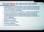causas raras de alteraci n del olfato