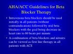 aha acc guidelines for beta blocker therapy