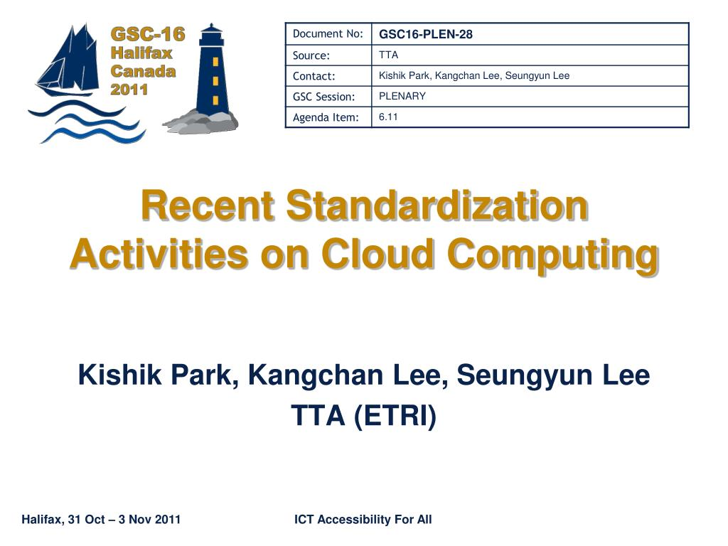 recent standardization activities on cloud computing l.