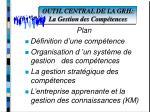 outil central de la grh la gestion des comp tences43